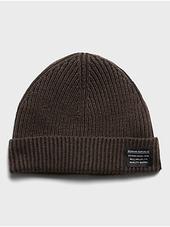 Cotton Ribbed-Knit Beanie
