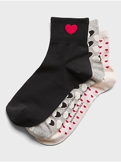 Valentine's Day Ankle Sock 3-Pack