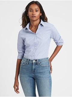 Petite Riley Tailored-Fit Super-Stretch Shirt