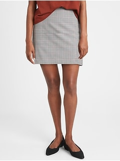 Washable Wool-Blend Mini Skirt