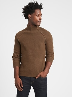 Italian Wool-Blend Mock-Neck Sweater