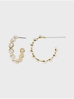 Mini-anneaux d'oreilles à perles