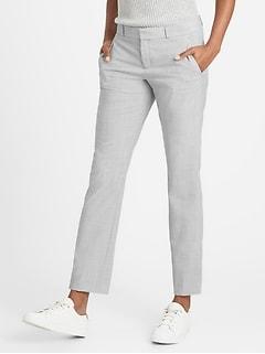 Petite Ryan Slim Straight-Fit Washable Wool-Blend Pant