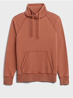 French Terry Funnel-Neck Sweatshirt