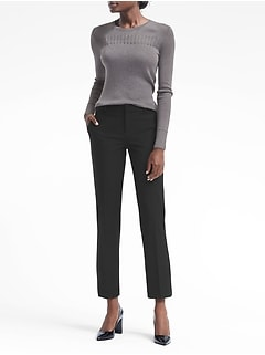 Avery Straight-Fit Bi-Stretch Ankle Pant