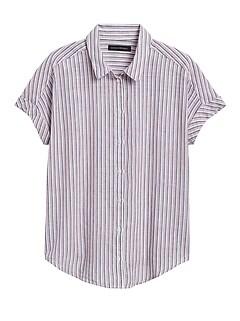 Cotton-Linen Roll-Cuff Shirt
