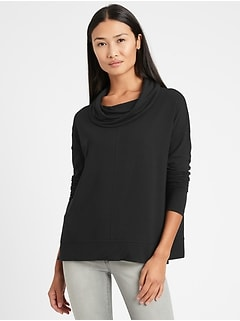 Baby Terry Funnel-Neck Top