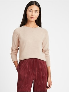 Italian Wool-Blend Cropped Sweater