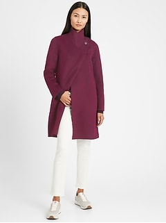 Petite Double-Faced Cocoon Coat