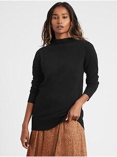 Petite Italian Wool-Blend Sweater Tunic