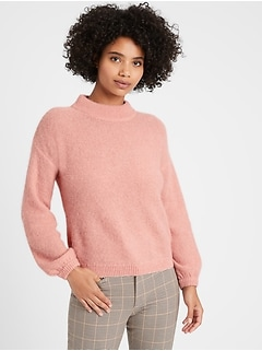 Relaxed Balloon-Sleeve Sweater