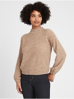 Petite Relaxed Balloon-Sleeve Sweater