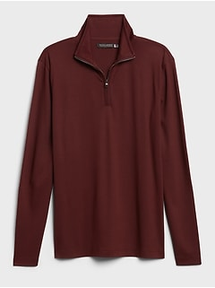 Luxury-Touch Performance Half-Zip T-Shirt