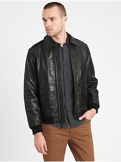 Heritage Leather Aviator Jacket