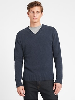 Heritage Recycled Cashmere V-Neck Sweater
