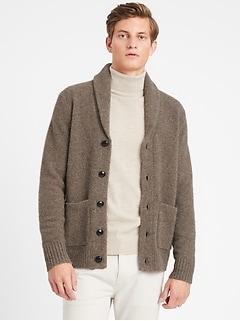 Heritage Luxury Shawl-Collar Cardigan Sweater