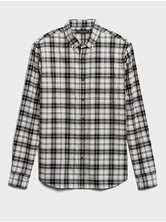 Untucked Standard-Fit Flannel Shirt