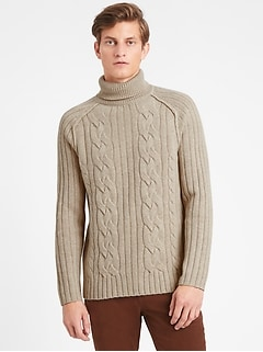Italian Wool-Blend Turtleneck Sweater