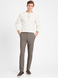 Pantalon Performance, coupe étroite, à taille élastique