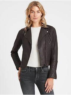 Heritage Quilted Leather Moto Jacket