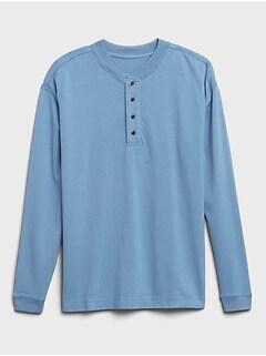 Heavyweight Cotton Henley T-Shirt
