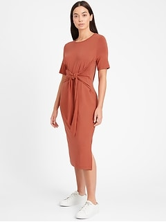 Sandwash Modal Twist-Front Dress