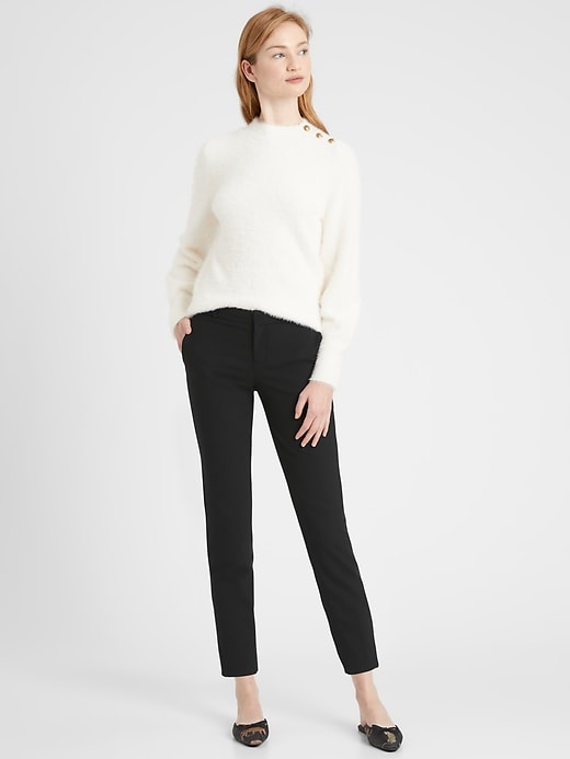 Avery Straight-Fit Lightweight Wool Ankle Pant