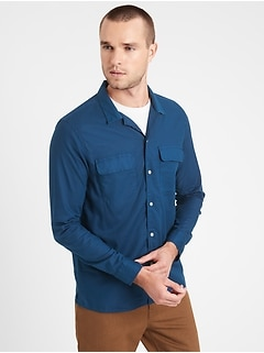 Slim-Fit Organic Cotton Resort Shirt
