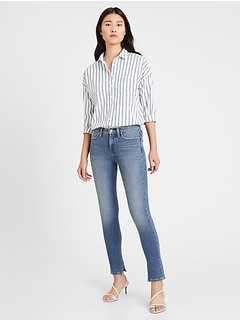 Petite Mid-Rise Skinny Jean with Split-Hem