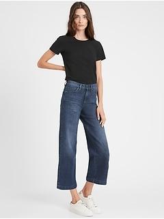 High-Rise Wide-Leg Cropped Jean