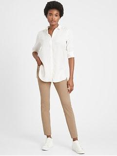 Pantalon Sloan, coupe moulante, à taille moyenne
