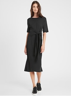 Petite Sandwash Modal Twist-Front Dress