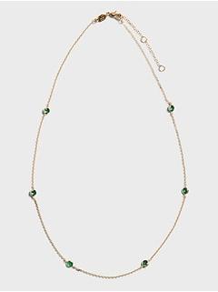 Ensemble de colliers à émeraude biseauté