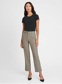 Petite High-Rise Relaxed Straight Pant