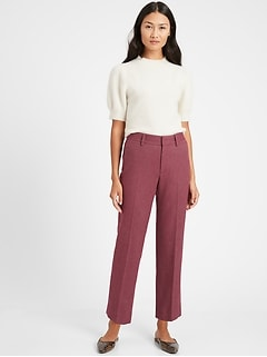 High-Rise Relaxed Straight Pant