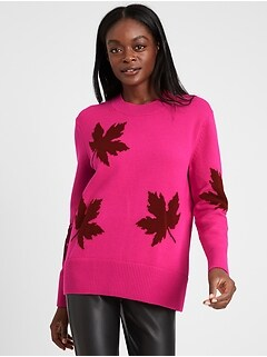 Relaxed Maple Leaf Sweater