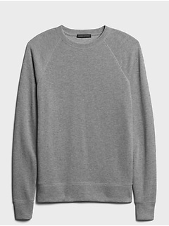 Double-Knit Crew-Neck Sweatshirt