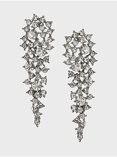 Stone Encrusted Drop Earrings