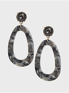 Stone & Resin Drop Earrings