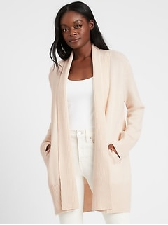 Cashmere Long Cardigan Sweater