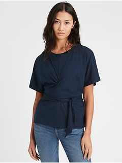 SUPIMA® Cotton Wrap Top