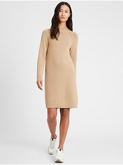 Petite Mock-Neck Sweater Dress