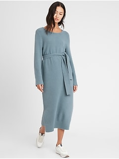 Petite Flare-Sleeve Sweater Dress
