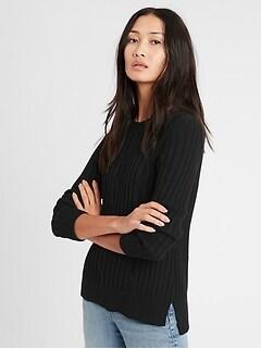 Chandail en tricot torsadé épais