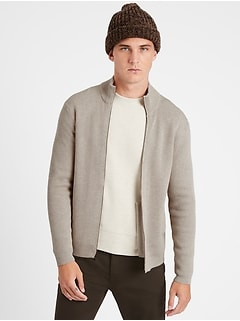 SUPIMA® Cotton Sweater Jacket