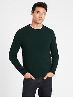 Italian Wool-Blend Crew-Neck Sweater