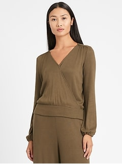 Cozy Ribbed Wrap-Style Top
