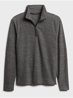 Brushed Waffle Half-Zip T-Shirt