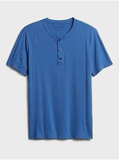 Soft Wash Henley T-Shirt