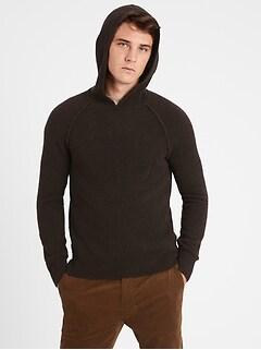 Wool-Blend Sweater Hoodie